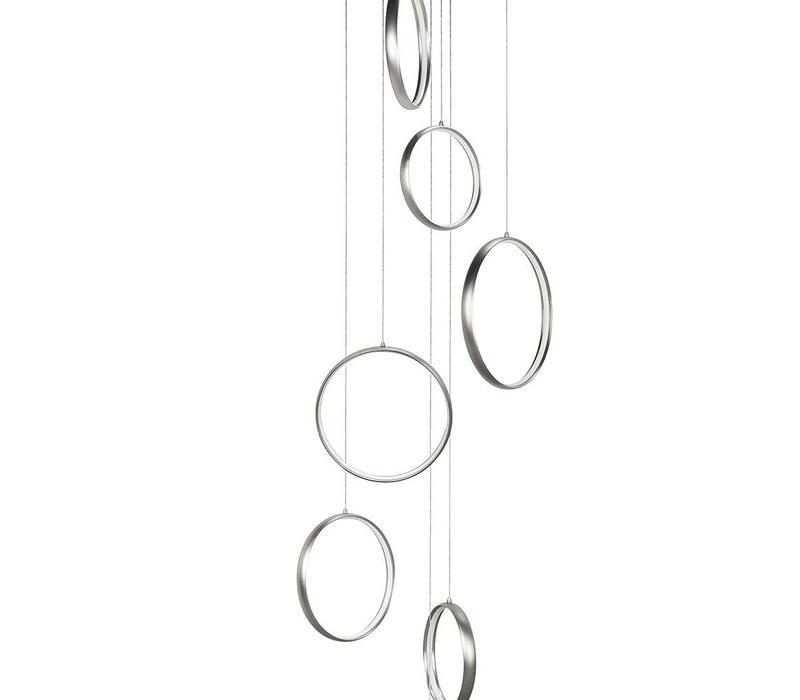 Hanglamp Olympia mat-chroom groot