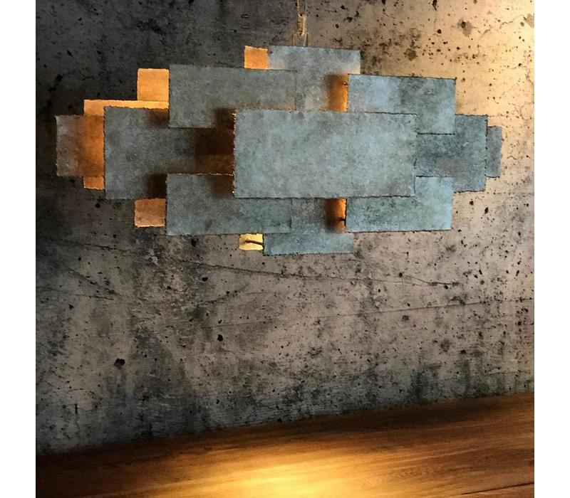 Hanglamp Beluga oud zilver