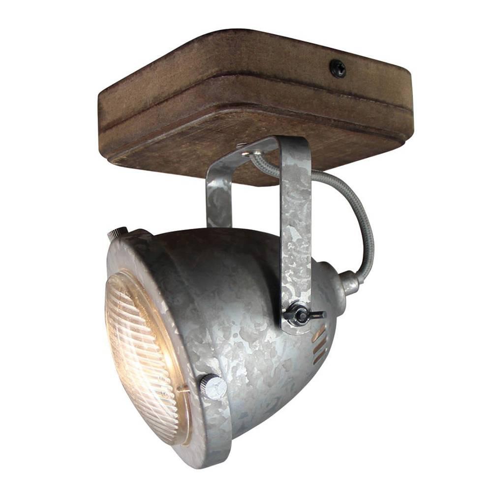 Freelight Spot Woody 1 lichts zink-hout
