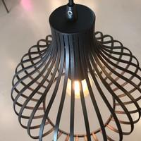 Hanglamp Aglio 48 cm zwart