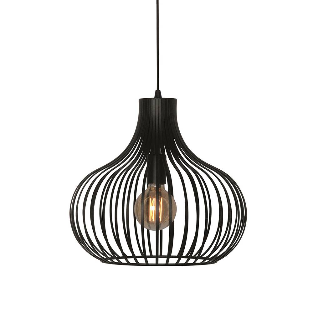 Freelight Hanglamp Aglio 38 cm zwart