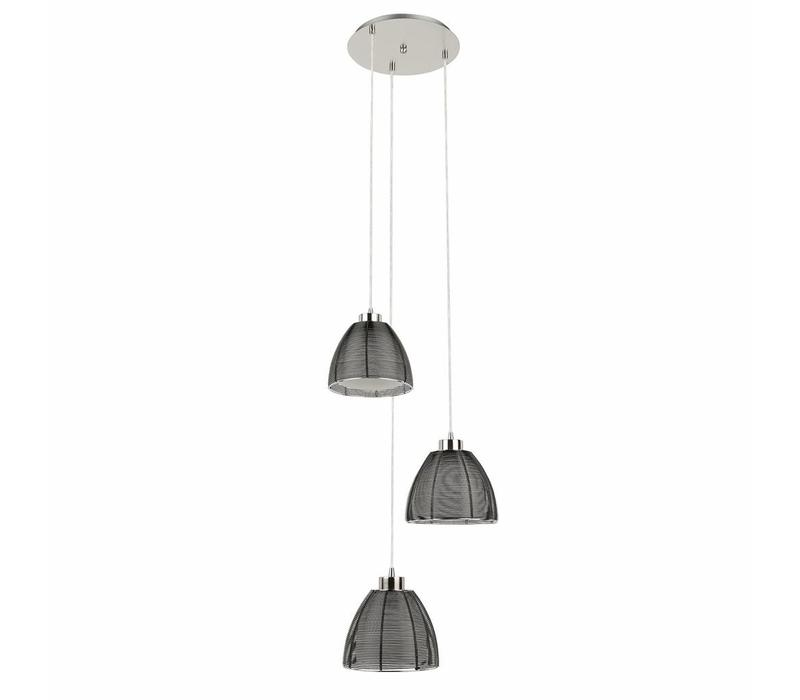 Hanglamp Whires Small zwart 3 lichts rond