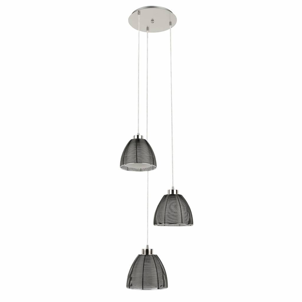 Highlight Hanglamp Whires Small zwart 3 lichts rond