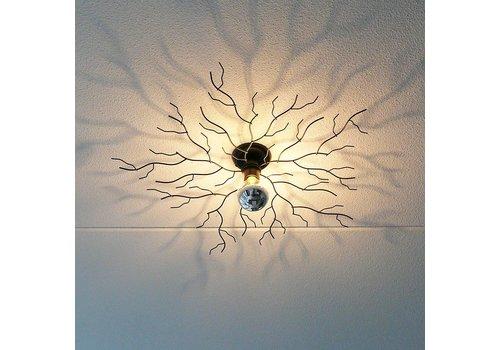 Ylumen Plafondlamp Bichero Ø 80 cm zwart incl LED Kopspiegel