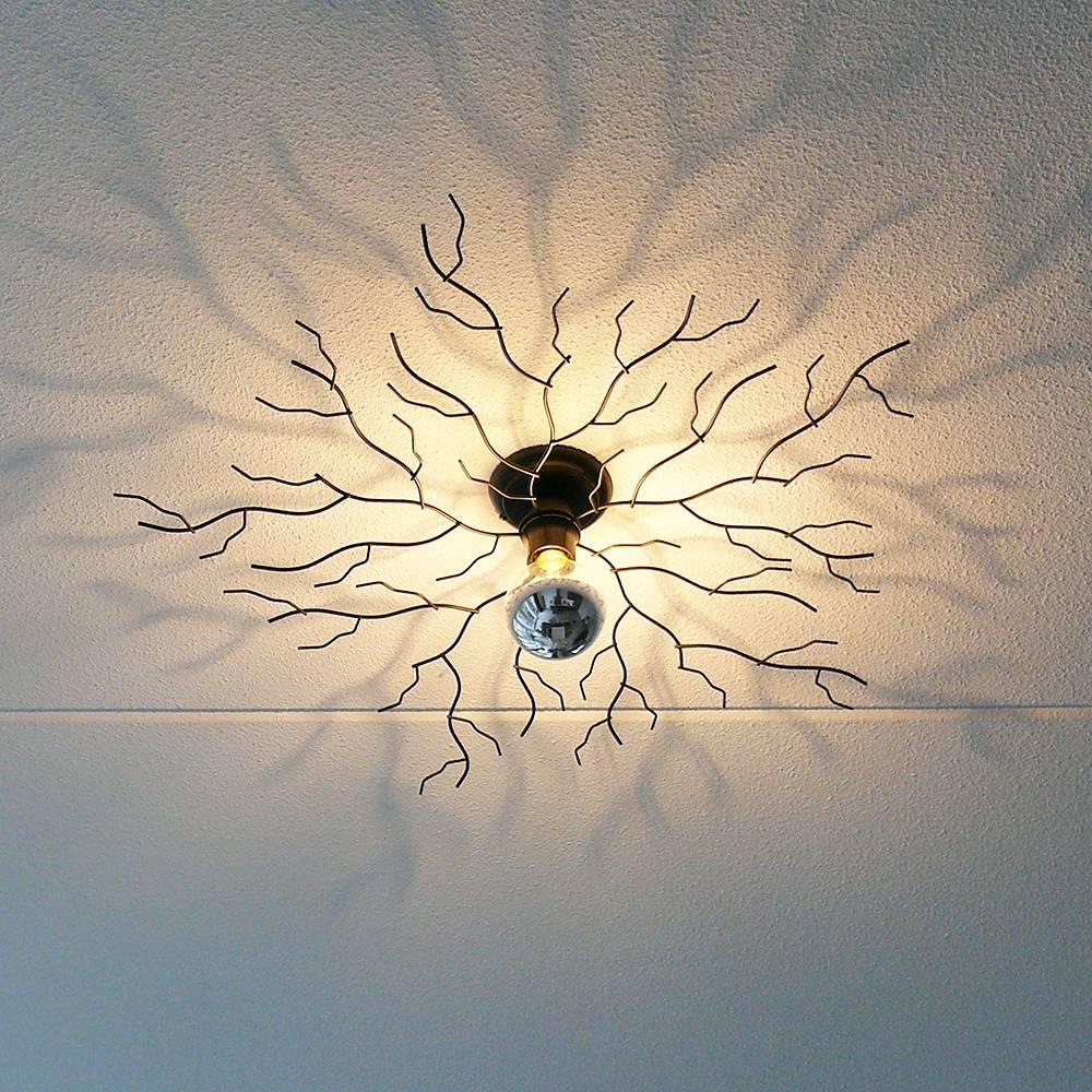 i-Lumen Plafondlamp Bichero groot zwart incl LED Kopspiegel