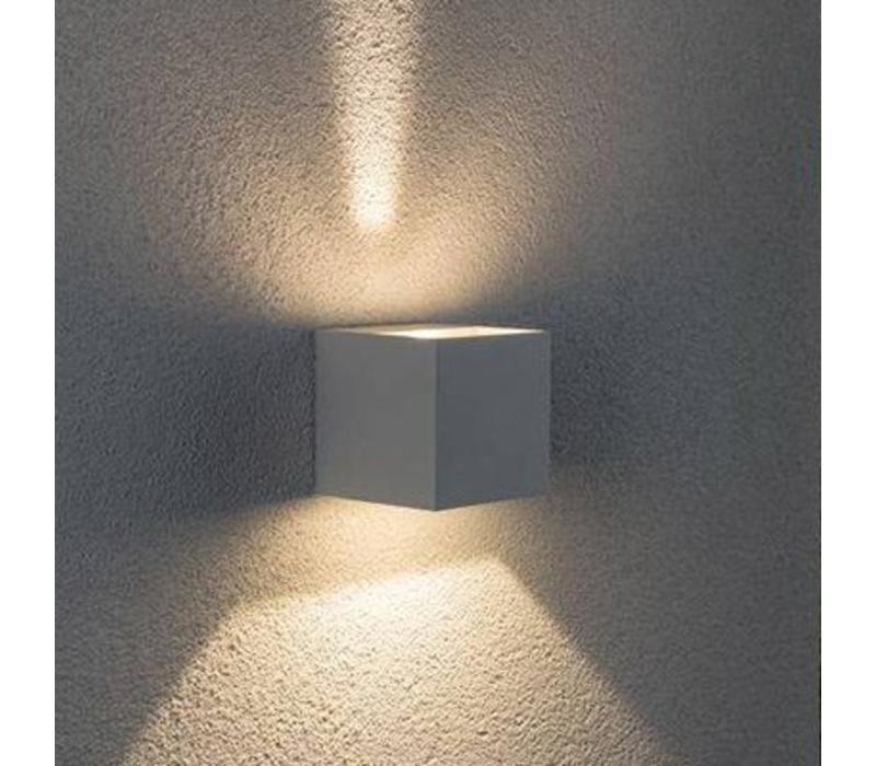 Wandlamp Square mat chroom verstelbare bundel