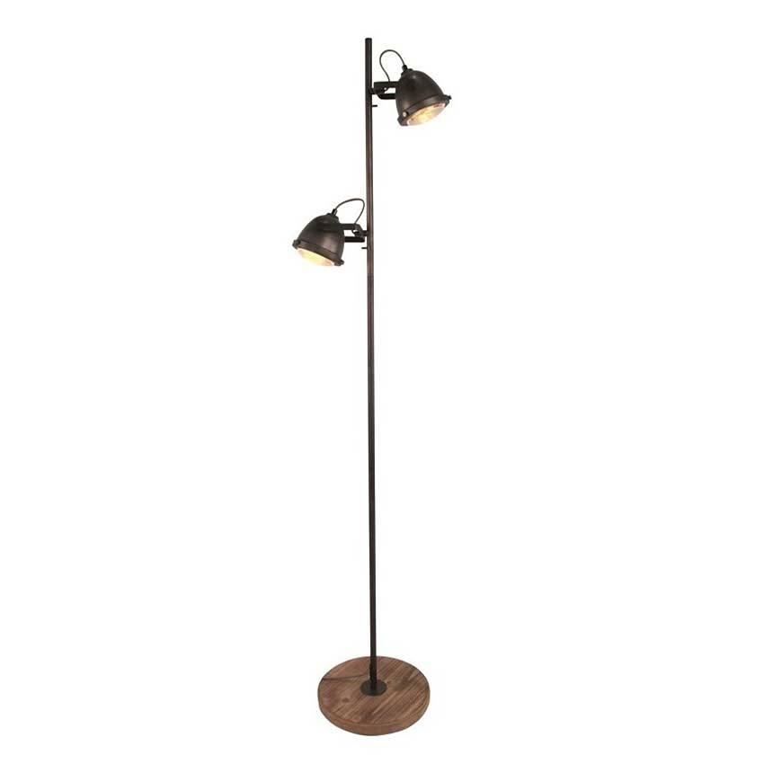 Freelight Vloerlamp Woody zwart-hout