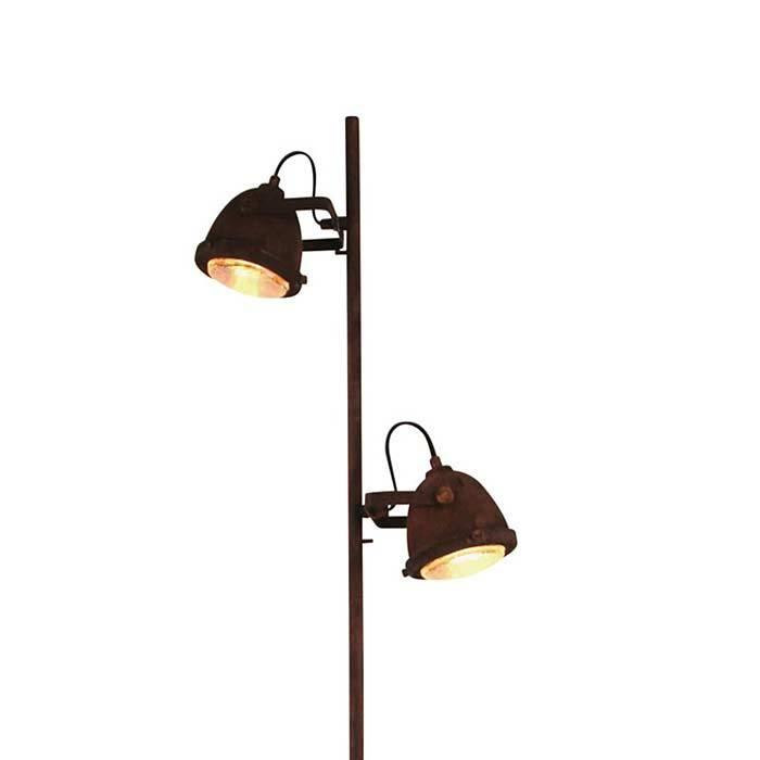 Freelight Vloerlamp Woody roest-hout