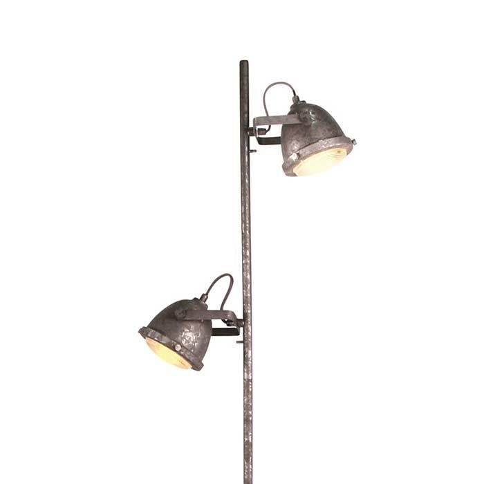 Freelight Vloerlamp Woody zink-hout
