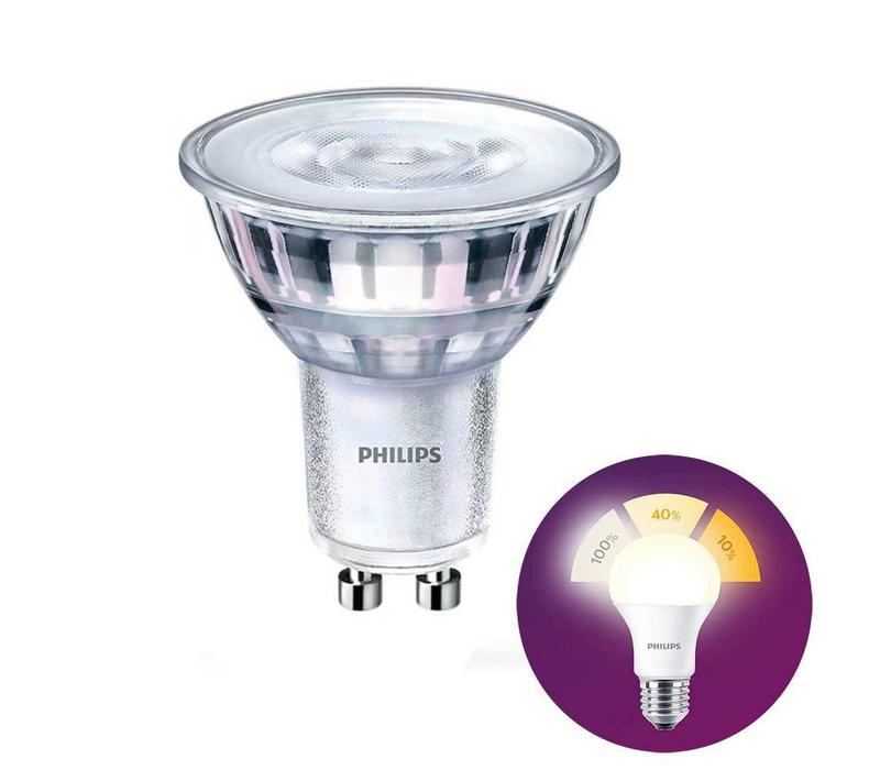 LED GU10 lamp 4,5 Watt Philips SceneSwitch DIM