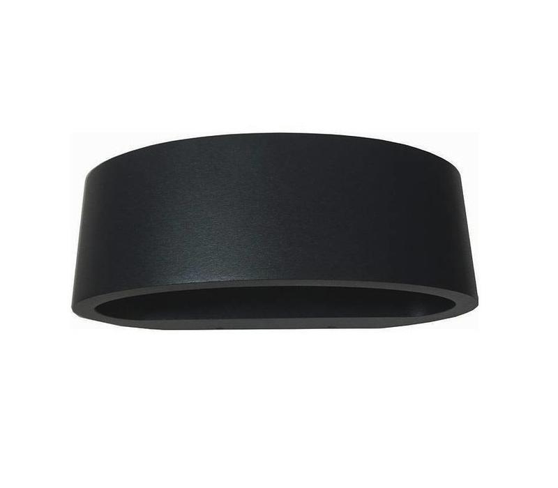 Wandlamp Sharp zwart