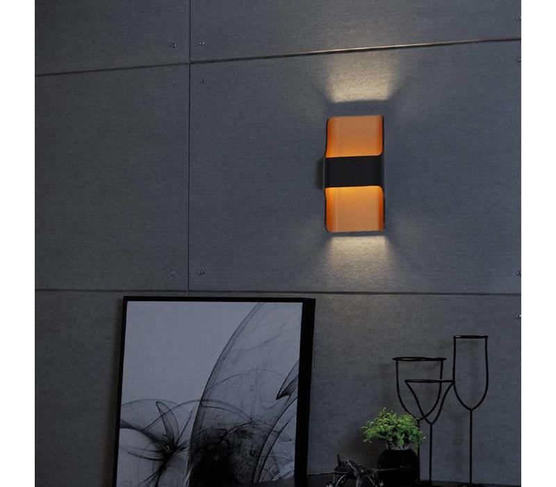 Wandlamp Dallas zwart