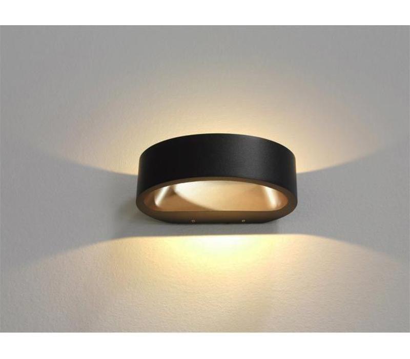 Wandlamp Sharp zwart-goud