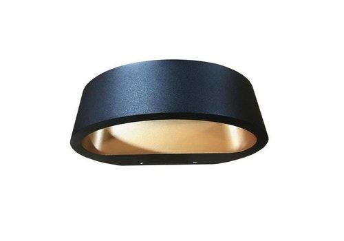 Artdelight Wandlamp Sharp zwart-goud
