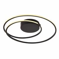 Plafondlamp Ophelia zwart rond