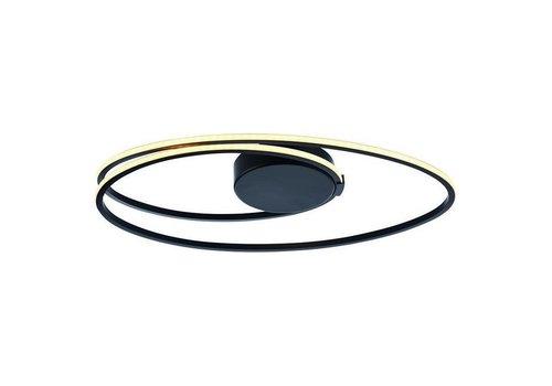 Freelight Plafondlamp Ophelia zwart ovaal klein