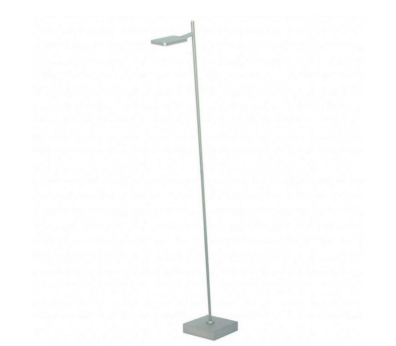 Vloerlamp Block mat chroom 1 lichts