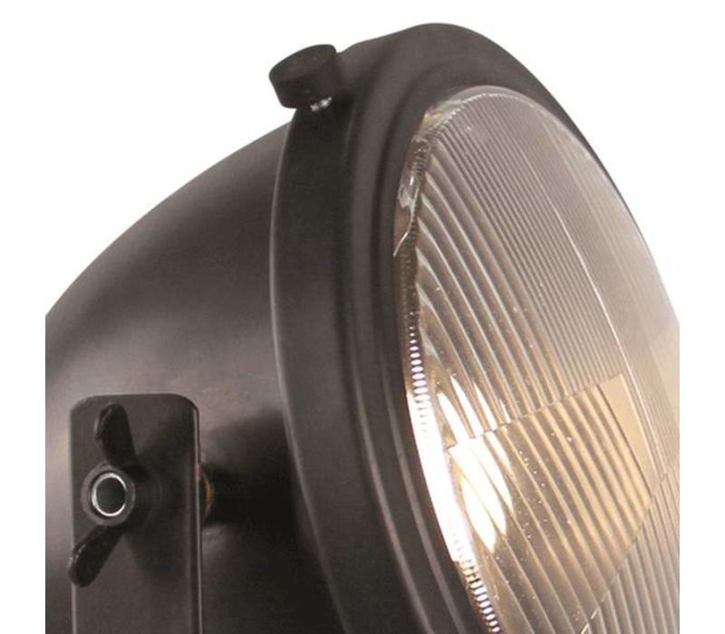 Tafellamp Woody zwart-hout