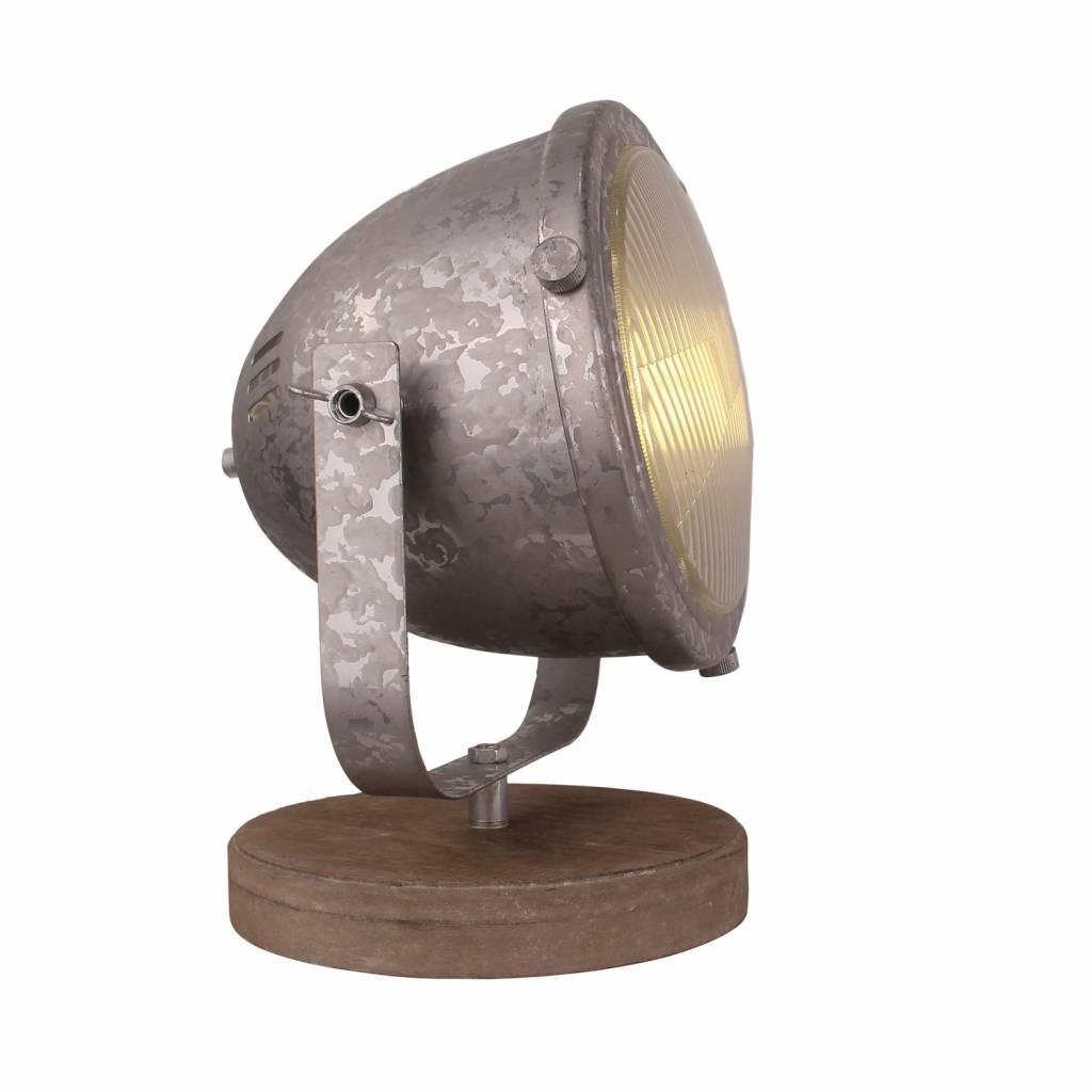 Freelight Tafellamp Woody zink-hout