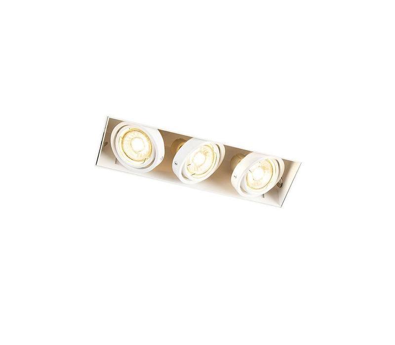 Inbouwspot Bado 3 lichts Gu10 wit Trimless
