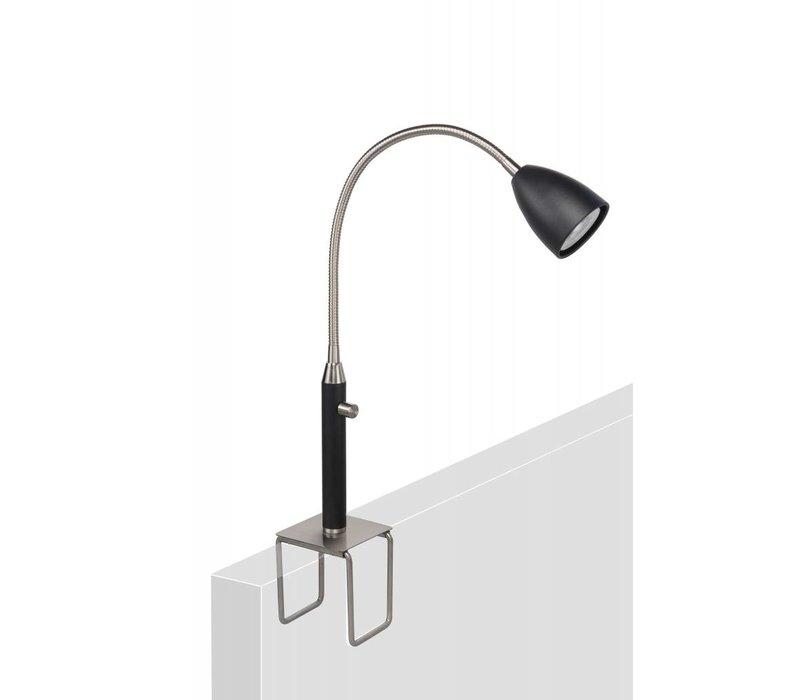 Klemlamp Malmö zwart