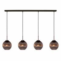 Hanglamp Zucca 4 lichts recht Rook