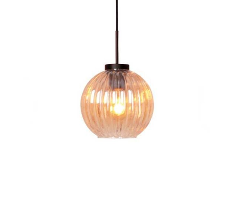 Hanglamp Zucca 3 lichts rond Amber
