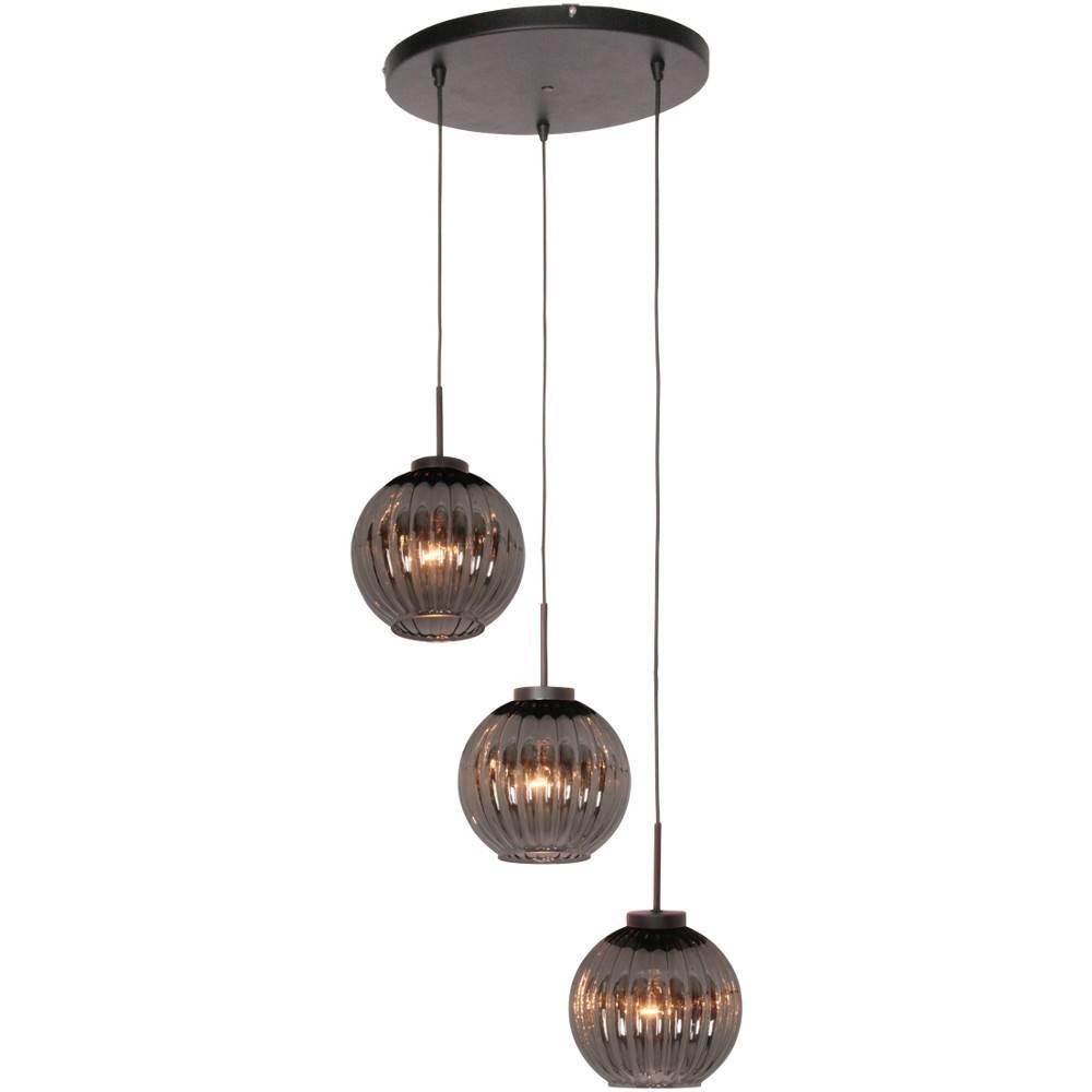 Freelight Hanglamp Zucca 3 lichts rond Rook