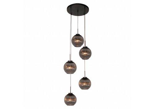 Freelight Hanglamp Zucca 5 lichts rond Rook