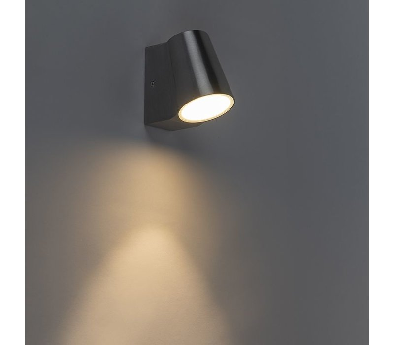 Buitenlamp Uma mat chroom dag nacht sensor