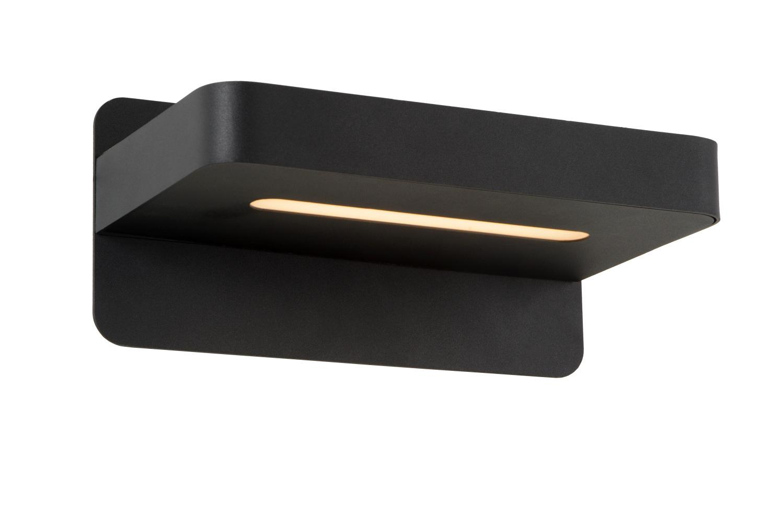 Lucide ATKIN Wandlicht LED 5W+ USB poort 25/14/11cm Zwart