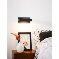 ATKIN Wandlicht LED 5W+ USB poort 25/14/11cm Zwart
