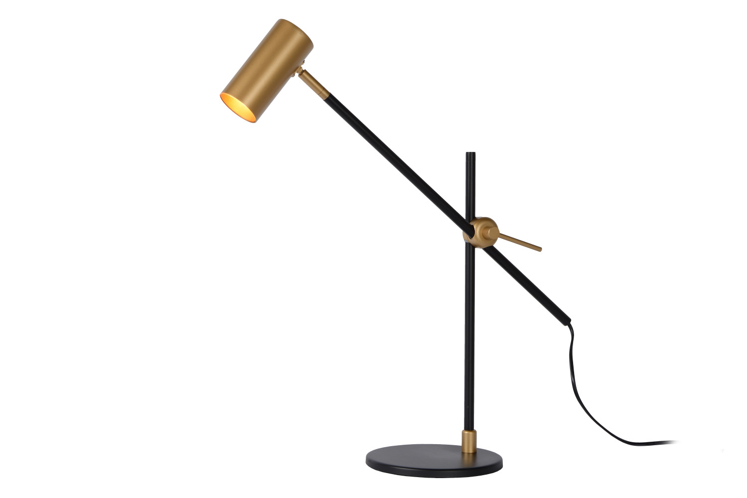 Lucide PHILINE Bureaulamp-Zwart-1xGU10-5W-Staal