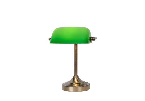 Lucide Banker Lamp E14 L22cm H30cm Glas Groen/Brons