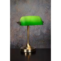 BANKER Lamp E14 L22cm H30cm Glas Groen/Brons
