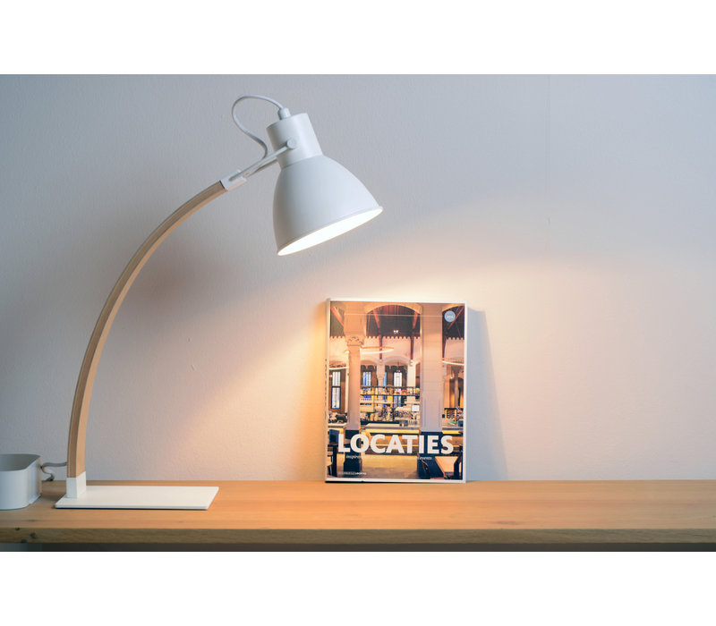 CURF Bureellamp E27/60W Plywood-Wit
