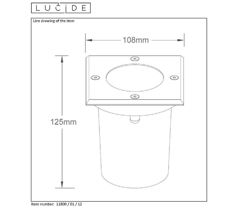 BILTIN Inbouw vierkant GU10 excl. L10.8/10.8