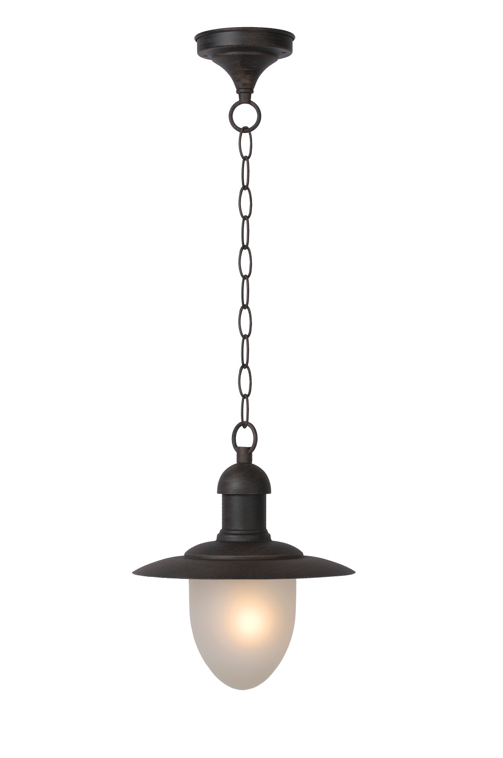 Lucide ARUBA Hanglamp IP44 1xE27 H78 D25 Roest