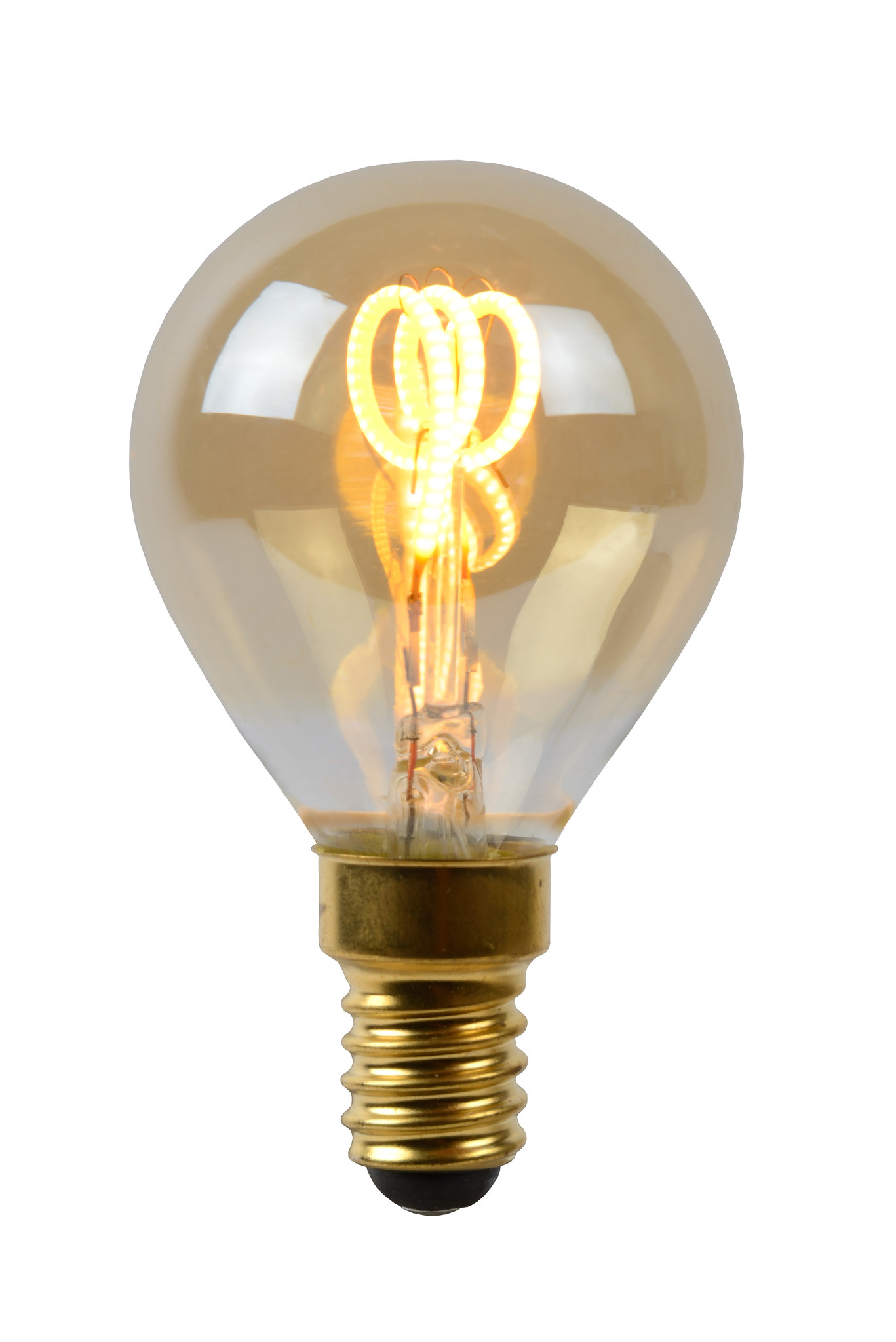 Lucide P45 Fil. lamp-Amber-LED Dimb.-1xE14-3W-2200K
