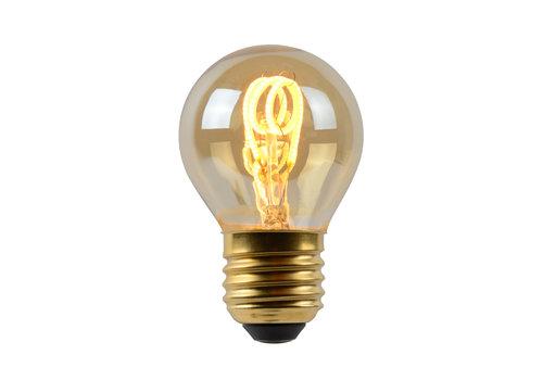 Lucide Lamp LED globe 4.5cm E27/3W 2200K Dimbaar Amber