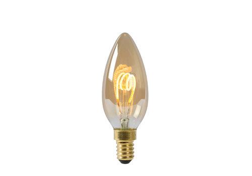 Lucide Lamp LED C35 E14 3W 115LM 2200K Dimbaar Amber