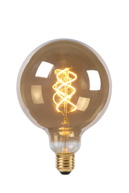 Lamp LED Globe 12.5cm 5W 260LM 2200K Dimbaar Smoke