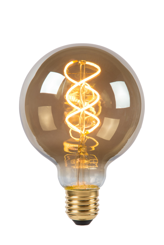 Lucide Lamp LED Globe 9,5cm5W 180LM 2200K Dimbaar Smoke