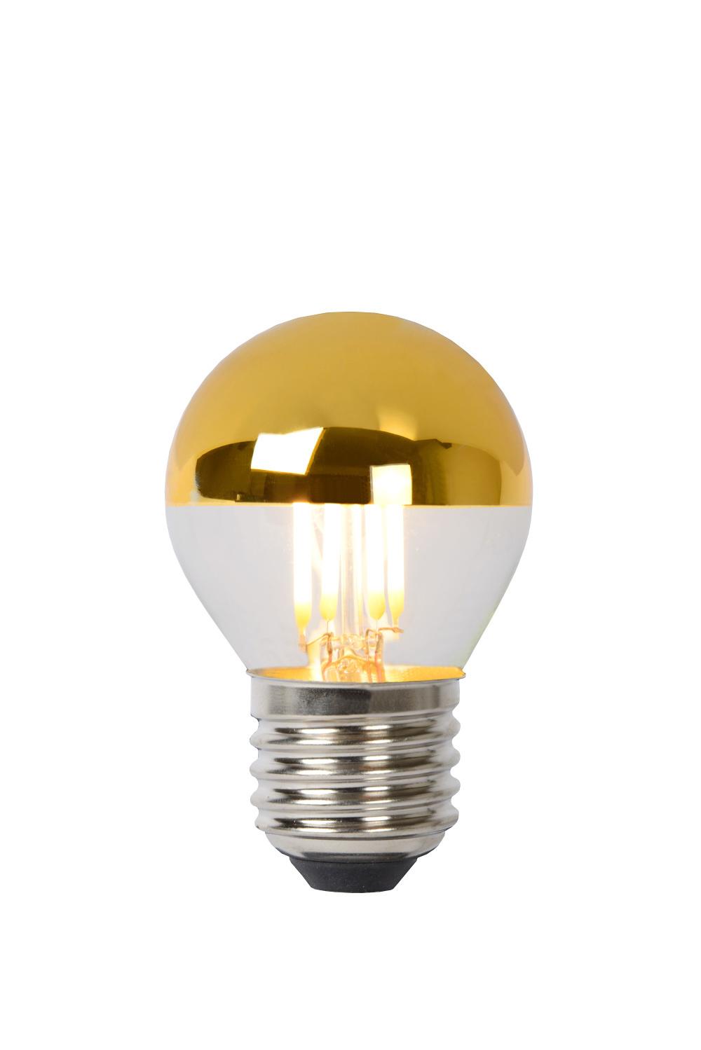 Lucide Lamp G45 Filament Dimbaar E27 4w 320lm 2700k Goud