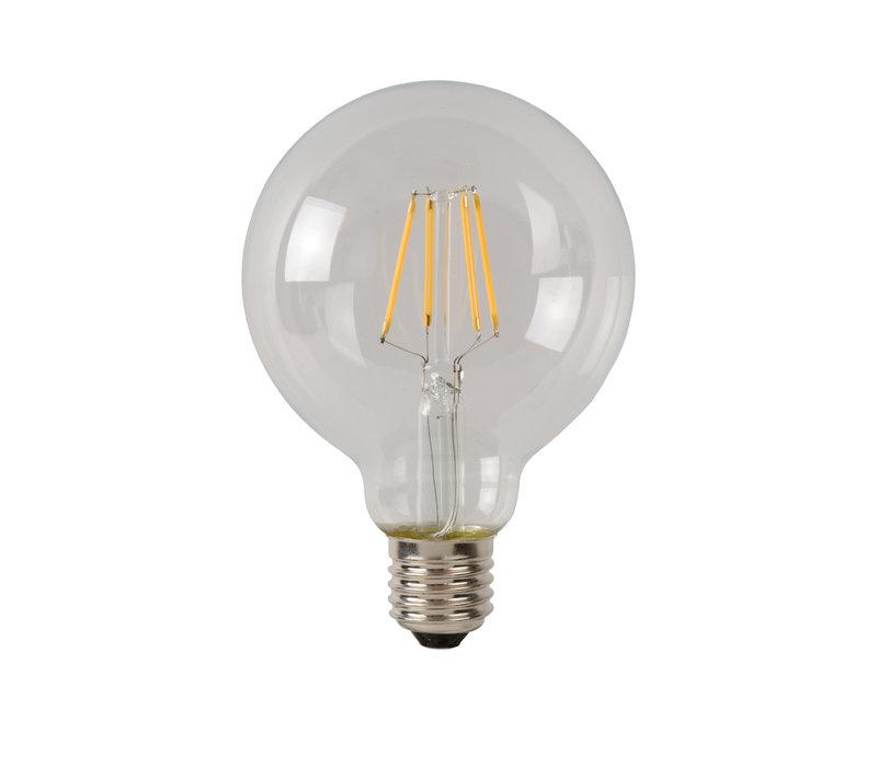 LAMP LED G95  Filament E27/5W 500LM 2700K Helder