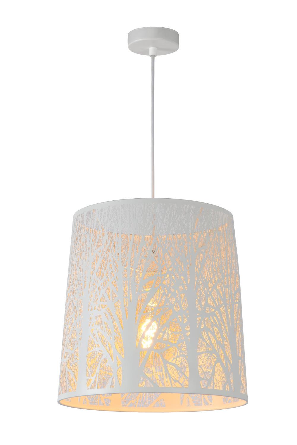 Lucide GARELL Hanglamp-Wit-Ø35-1xE27-60W-Metaal