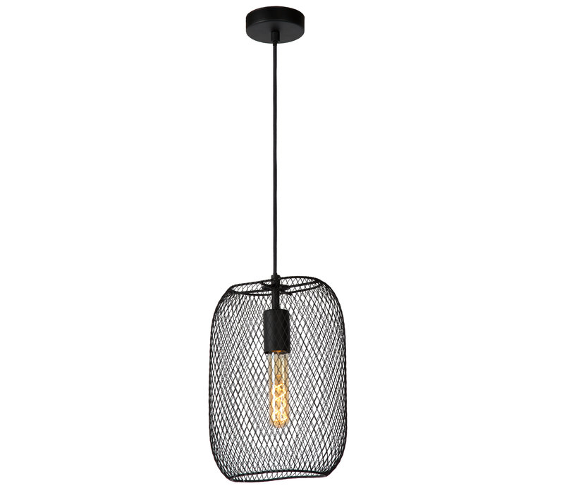 MESH Hanglamp E27/60W 23.5/12/160cm Zwart