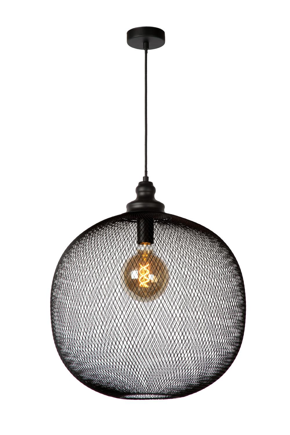 Lucide MESH Hanglamp E27/60W Ø49cm Zwart