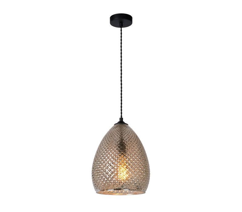 GERBEN Hanglamp E27/40W Ø24cm Antiek Zilver Glas