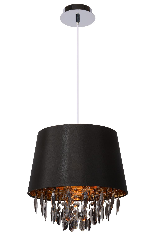 Lucide DOLTI Hanglamp-Zwart-Ø30,5-1xE27-60W-Acryli.
